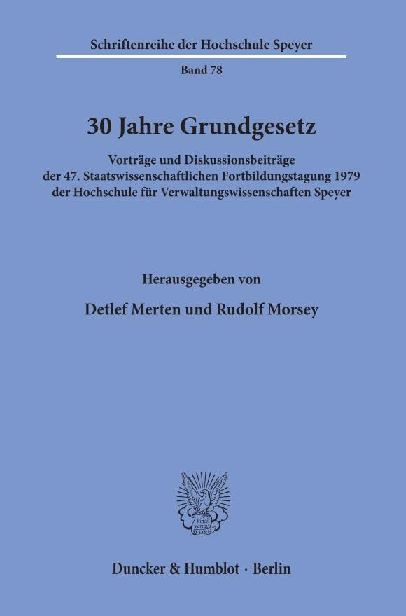 Cover 30 Jahre Grundgesetz