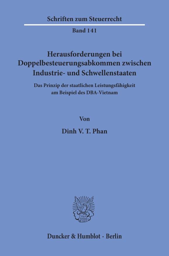 Cover Herausforderungen bei Doppelbesteuerungsabkommen zwischen Industrie- und Schwellenstaaten