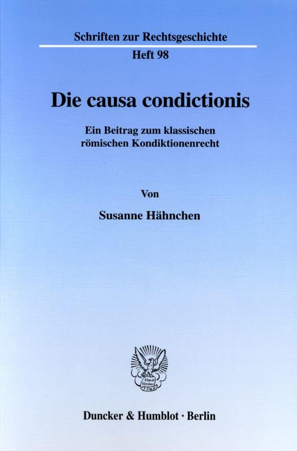 Cover Die causa condictionis