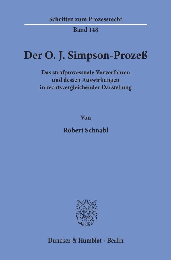 Cover Der O. J. Simpson-Prozeß