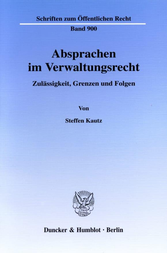 Cover Absprachen im Verwaltungsrecht
