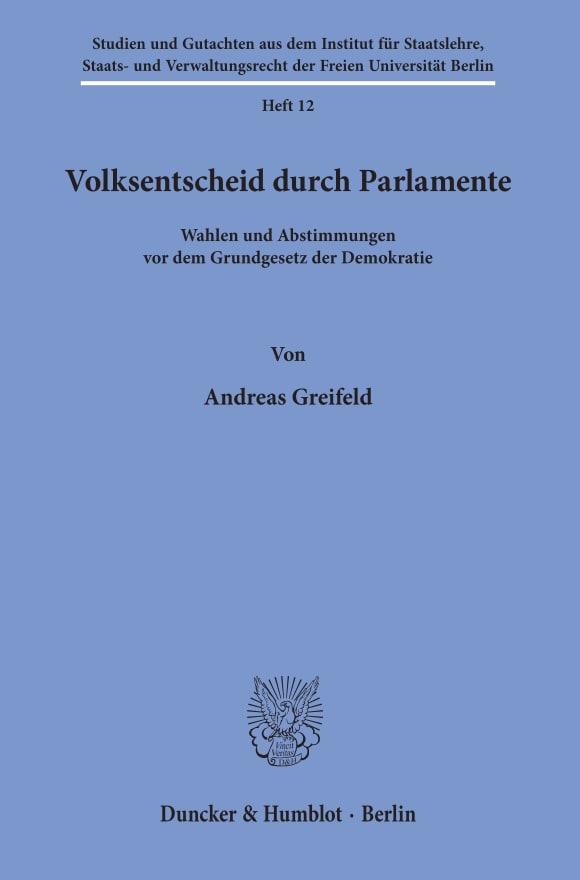 Cover Volksentscheid durch Parlamente