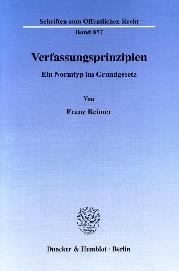 Cover Verfassungsprinzipien