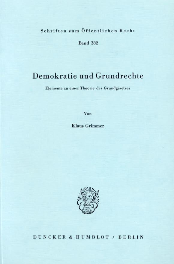 Cover Demokratie und Grundrechte