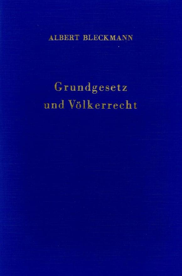 Cover Grundgesetz und Völkerrecht