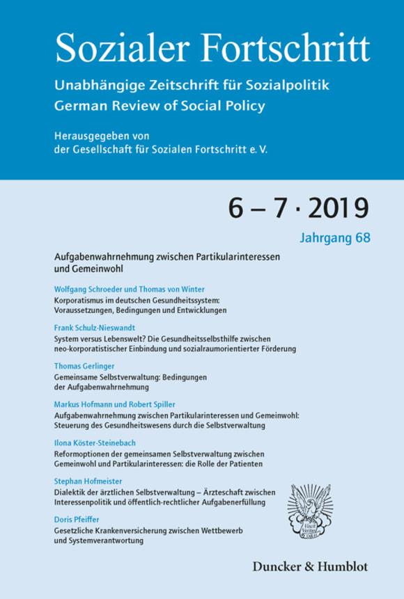 Cover Aufgabenwahrnehmung zwischen Partikularinteressen und Gemeinwohl (SF 6-7/2019)