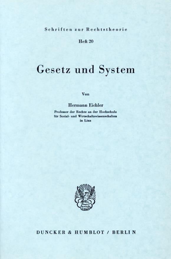 Cover Gesetz und System