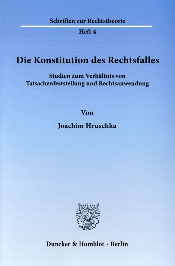 Cover Die Konstitution des Rechtsfalles