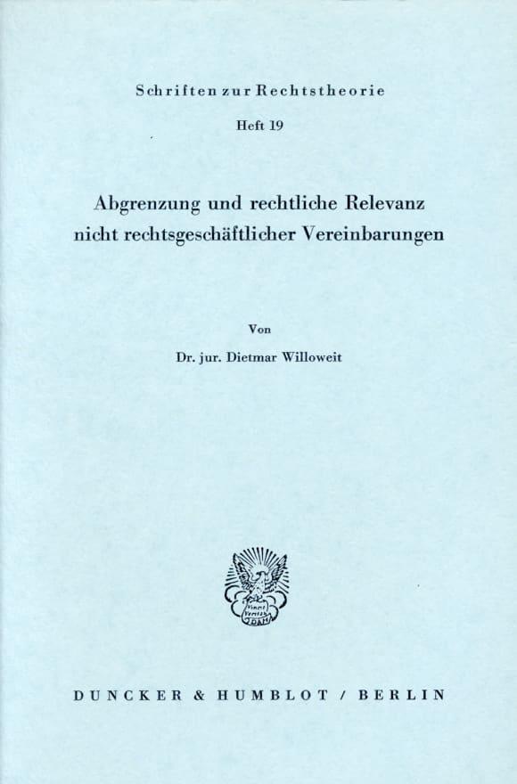 Cover Abgrenzung und rechtliche Relevanz nicht rechtsgeschäftlicher Vereinbarungen