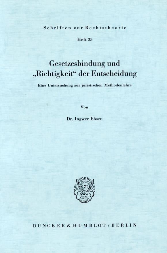 Cover Gesetzesbindung und