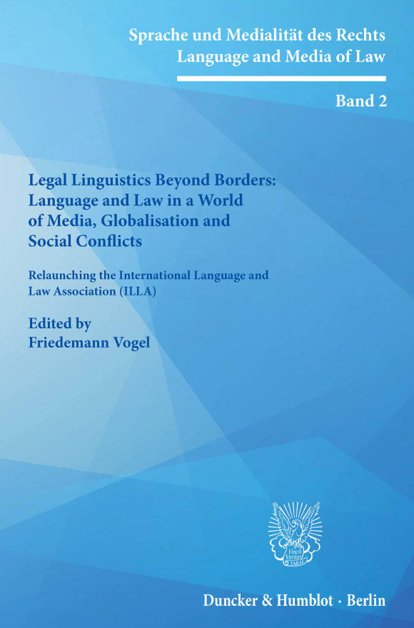Cover Sprache und Medialität des Rechts / Language and Media of Law (SMR)