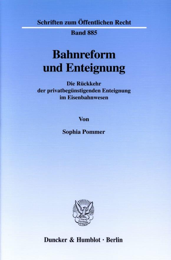 Cover Bahnreform und Enteignung