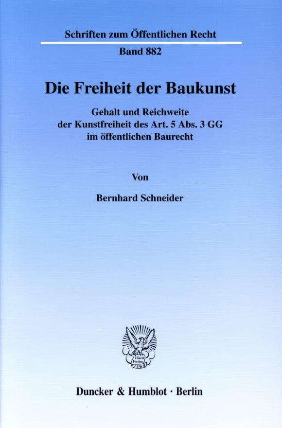 Cover Die Freiheit der Baukunst