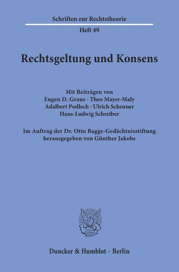 Cover Rechtsgeltung und Konsens