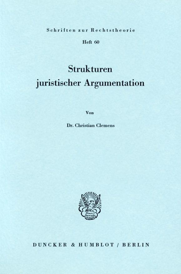 Cover Strukturen juristischer Argumentation