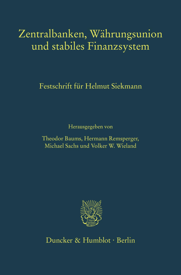 Cover Zentralbanken, Währungsunion und stabiles Finanzsystem