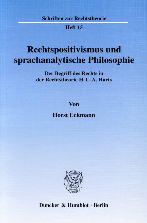 Cover Rechtspositivismus und sprachanalytische Philosophie
