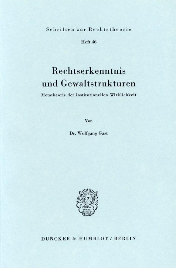 Cover Rechtserkenntnis und Gewaltstrukturen