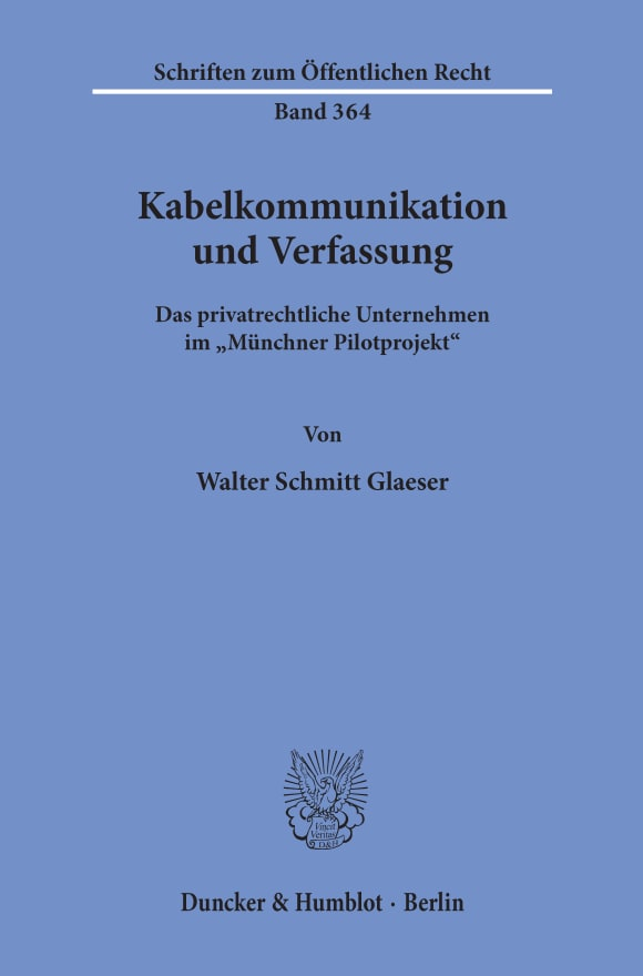 Cover Kabelkommunikation und Verfassung