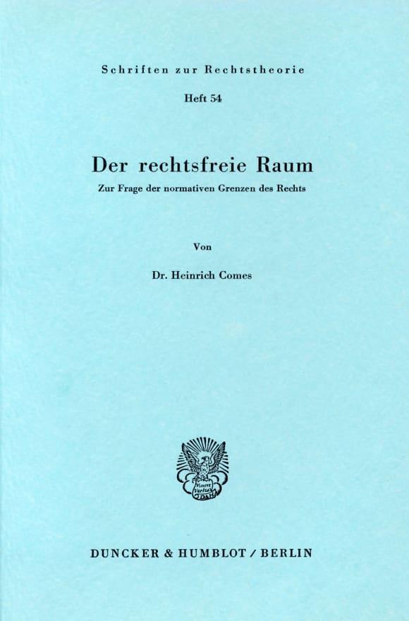 Cover Der rechtsfreie Raum