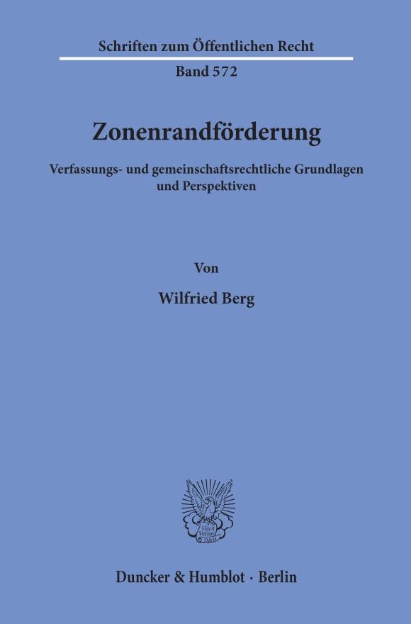 Cover Zonenrandförderung