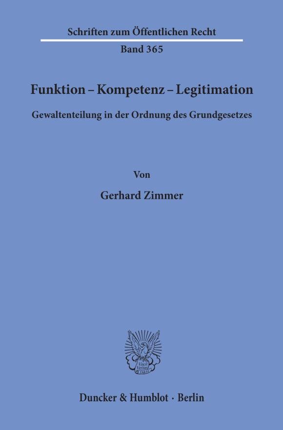 Cover Funktion - Kompetenz - Legitimation