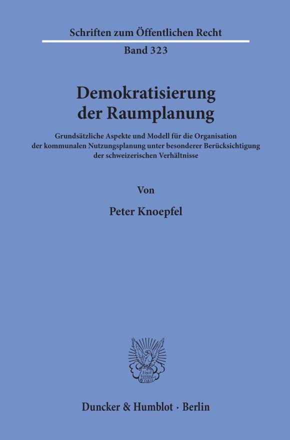 Cover Demokratisierung der Raumplanung