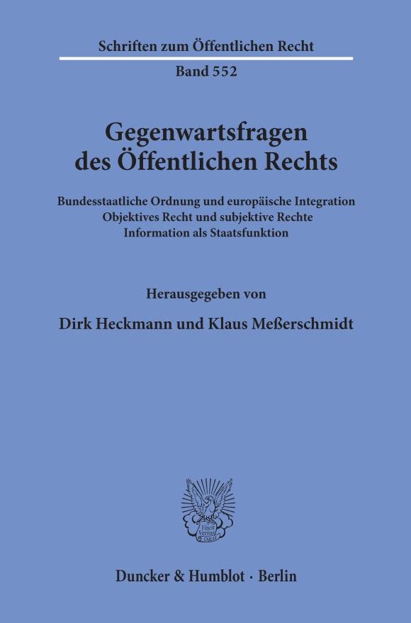 Cover Gegenwartsfragen des Öffentlichen Rechts