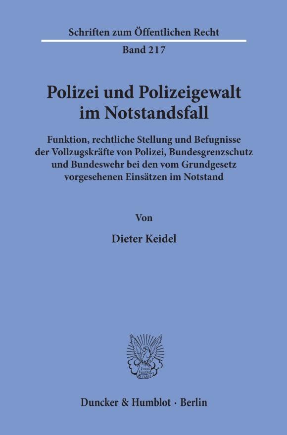 Cover Polizei und Polizeigewalt im Notstandsfall