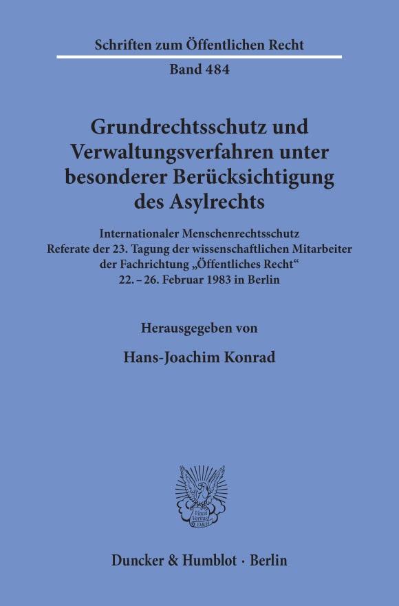 Cover Grundrechtsschutz und Verwaltungsverfahren