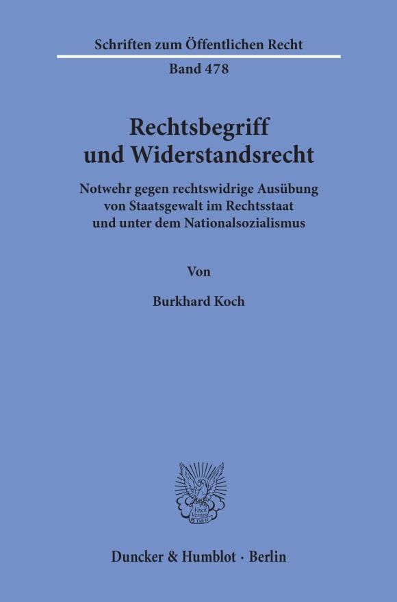 Cover Rechtsbegriff und Widerstandsrecht