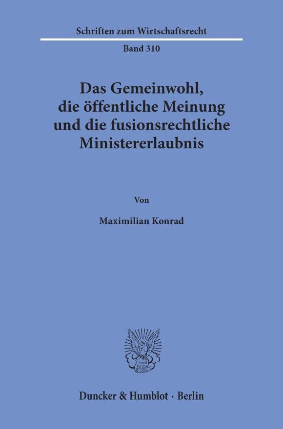 Cover Schriften zum Wirtschaftsrecht (WR)