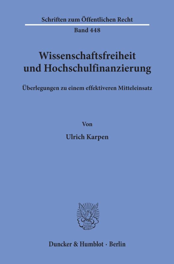 Cover Wissenschaftsfreiheit und Hochschulfinanzierung