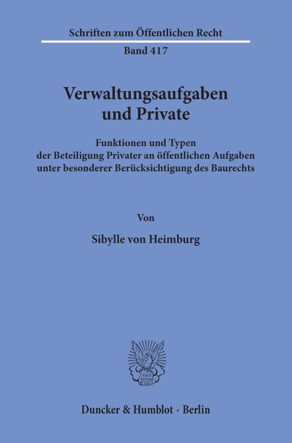 Cover Verwaltungsaufgaben und Private