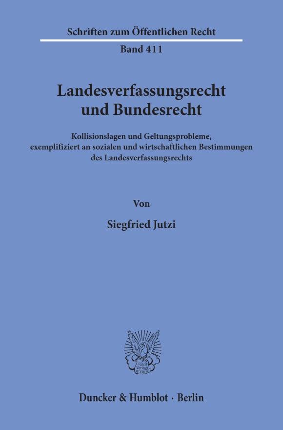 Cover Landesverfassungsrecht und Bundesrecht