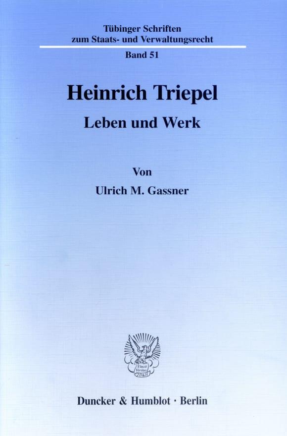 Cover Heinrich Triepel
