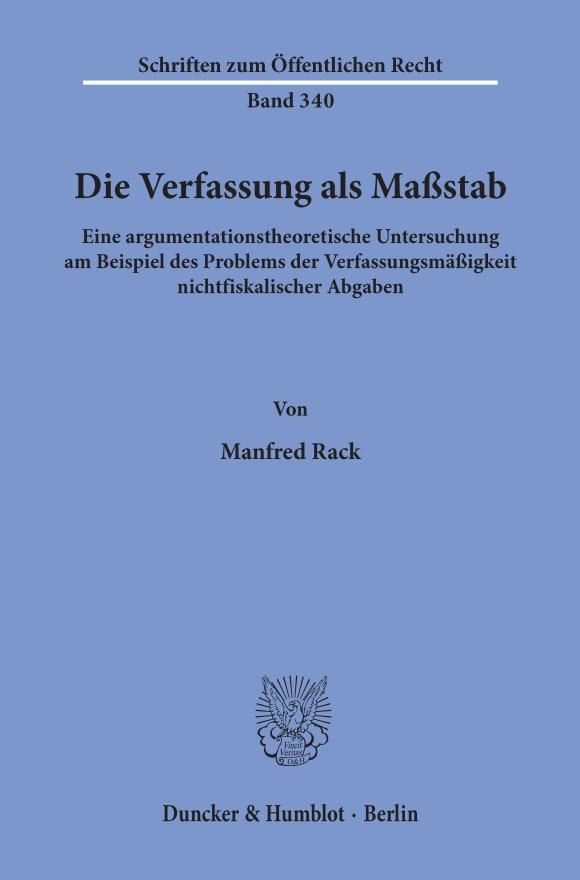 Cover Die Verfassung als Maßstab