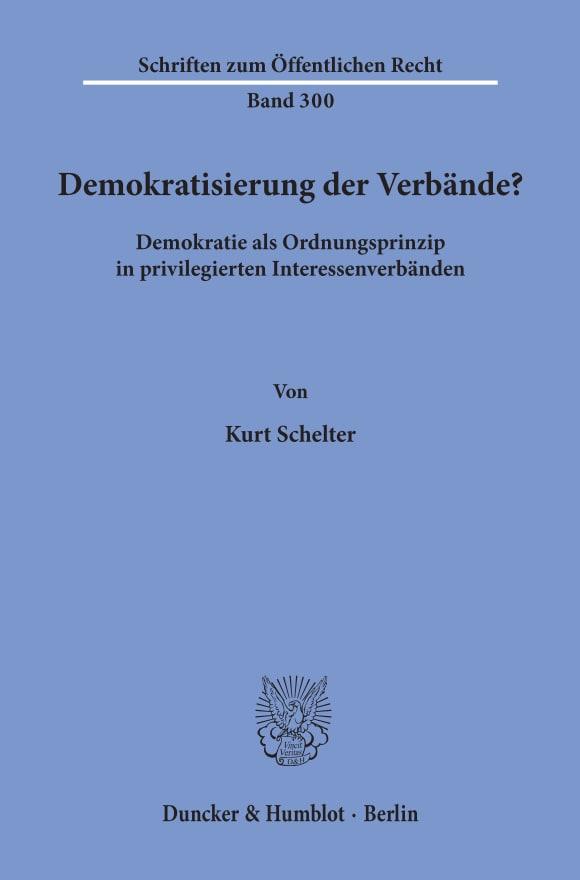 Cover Demokratisierung der Verbände?