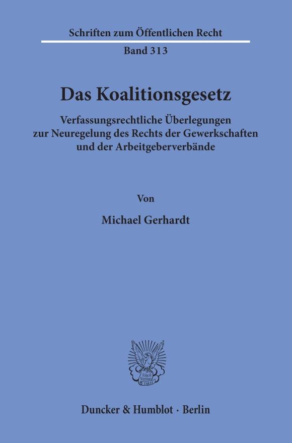 Cover Das Koalitionsgesetz