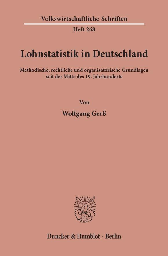 Cover Lohnstatistik in Deutschland