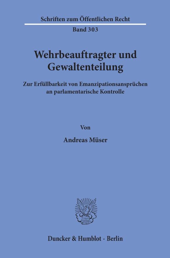 Cover Wehrbeauftragter und Gewaltenteilung