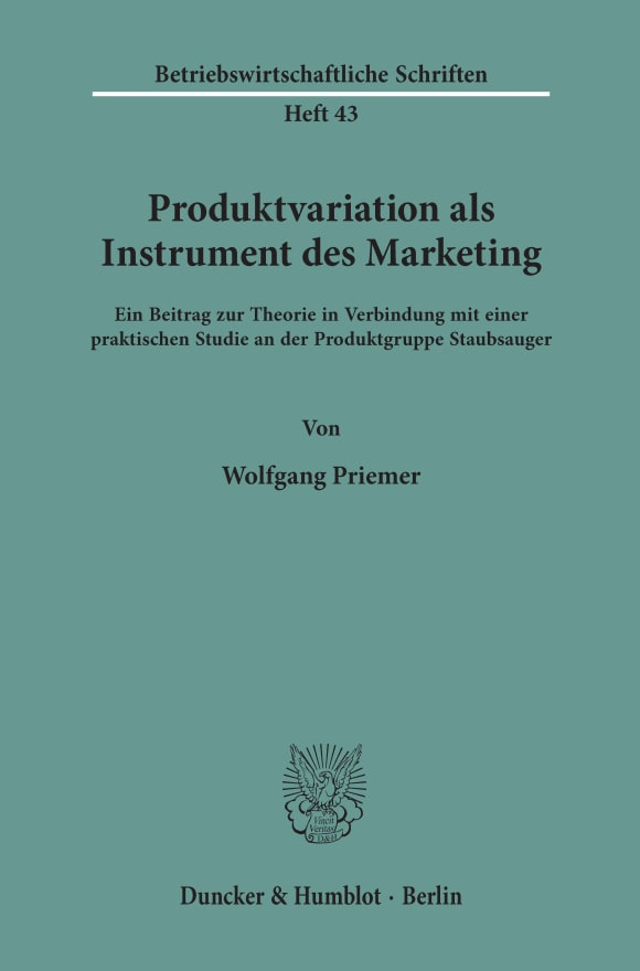 Cover Produktvariation als Instrument des Marketing