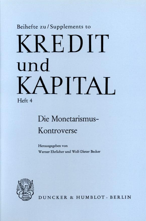 Cover Die Monetarismus-Kontroverse