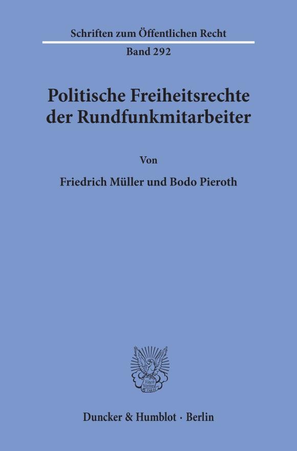 Cover Politische Freiheitsrechte der Rundfunkmitarbeiter