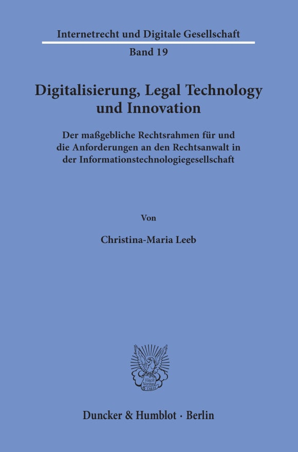 Cover Digitalisierung, Legal Technology und Innovation