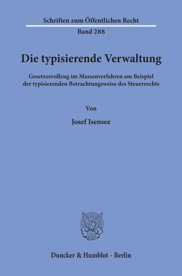 Cover Die typisierende Verwaltung