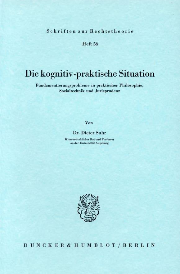 Cover Die kognitiv-praktische Situation