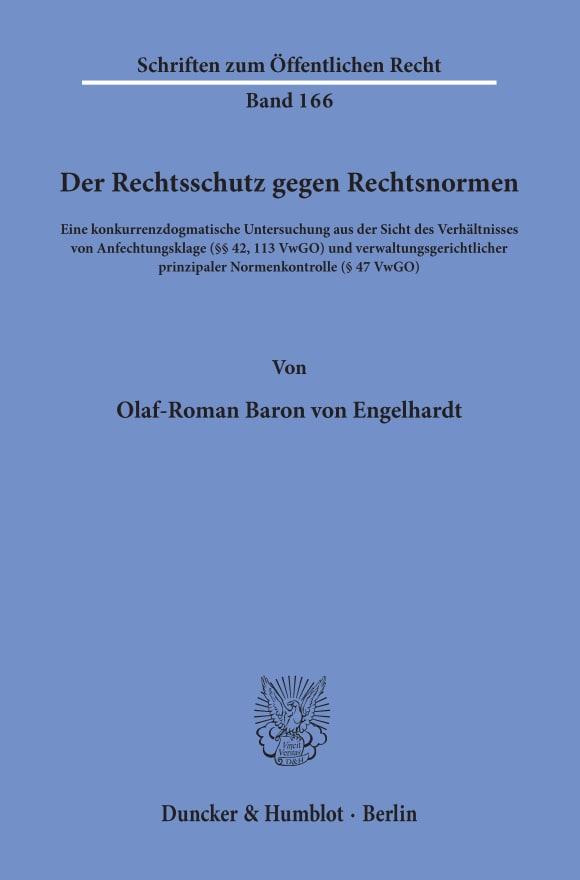 Cover Der Rechtsschutz gegen Rechtsnormen