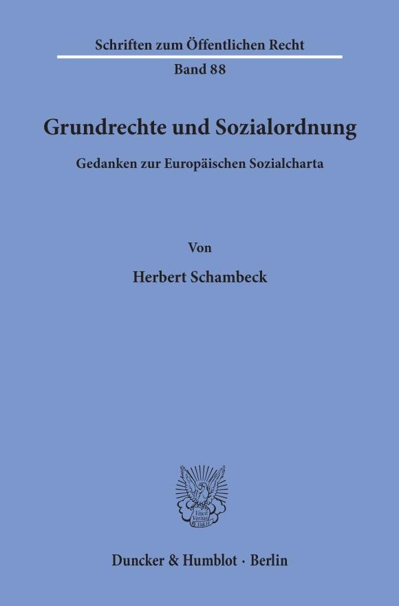 Cover Grundrechte und Sozialordnung