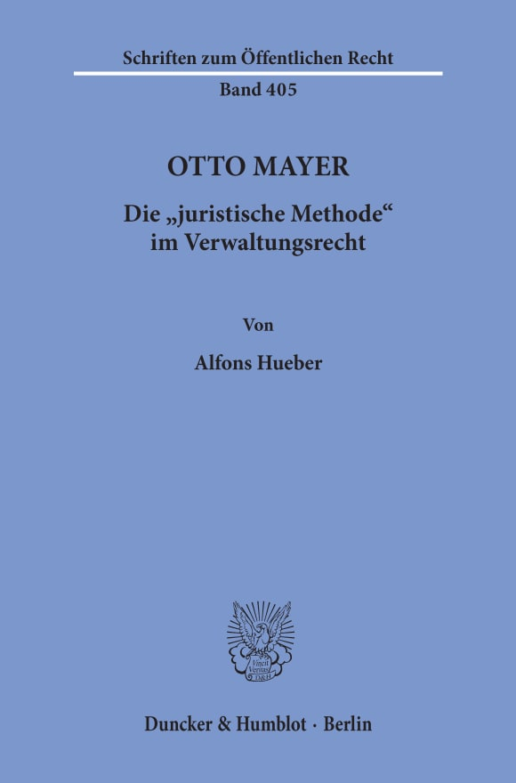 Cover Otto Mayer